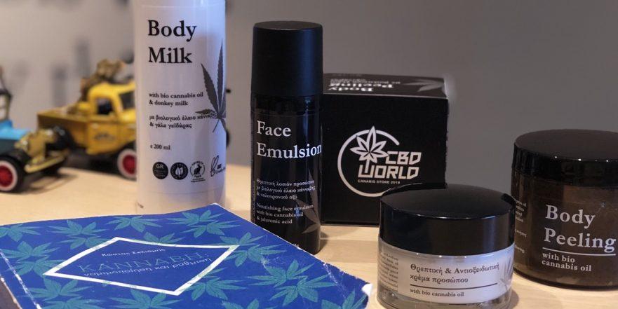 H CBDWORLD  καινοτομεί και προτείνει προϊόντα περιποίησης δέρματος και μαλλιών με κανναβέλαιο